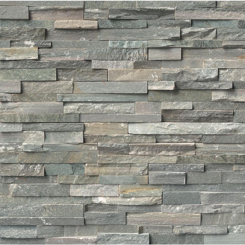 Sierra Blue Ledger Panel 6 in. x 24 in. Natural Quartzite Wall Tile (10 cases / 40 sq. ft. / pallet)