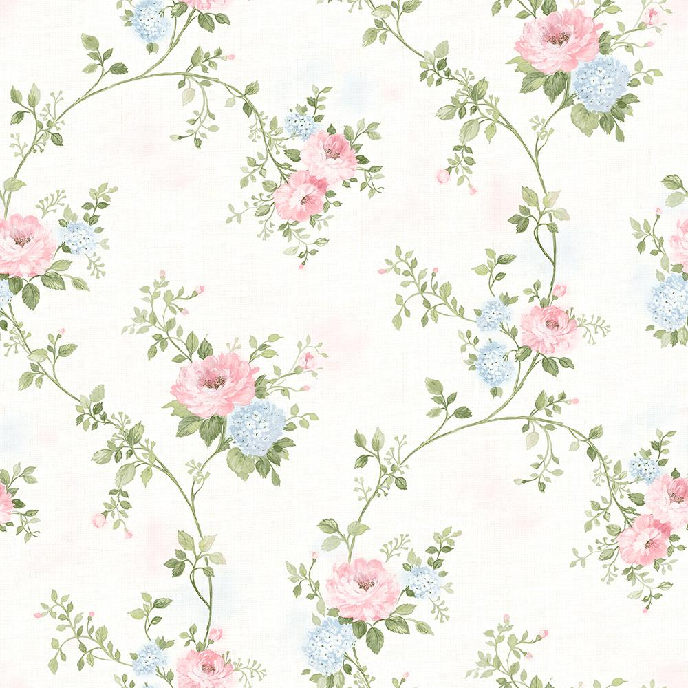 Mimosa Pastel Trail Wallpaper 3117-79105 - The Home Depot