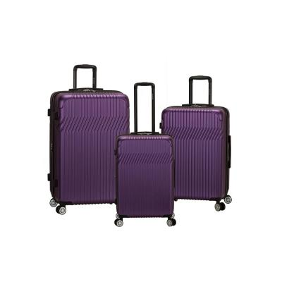 Pista Collection 3-Piece Hardside Dual Spinner Luggage Set, Purple