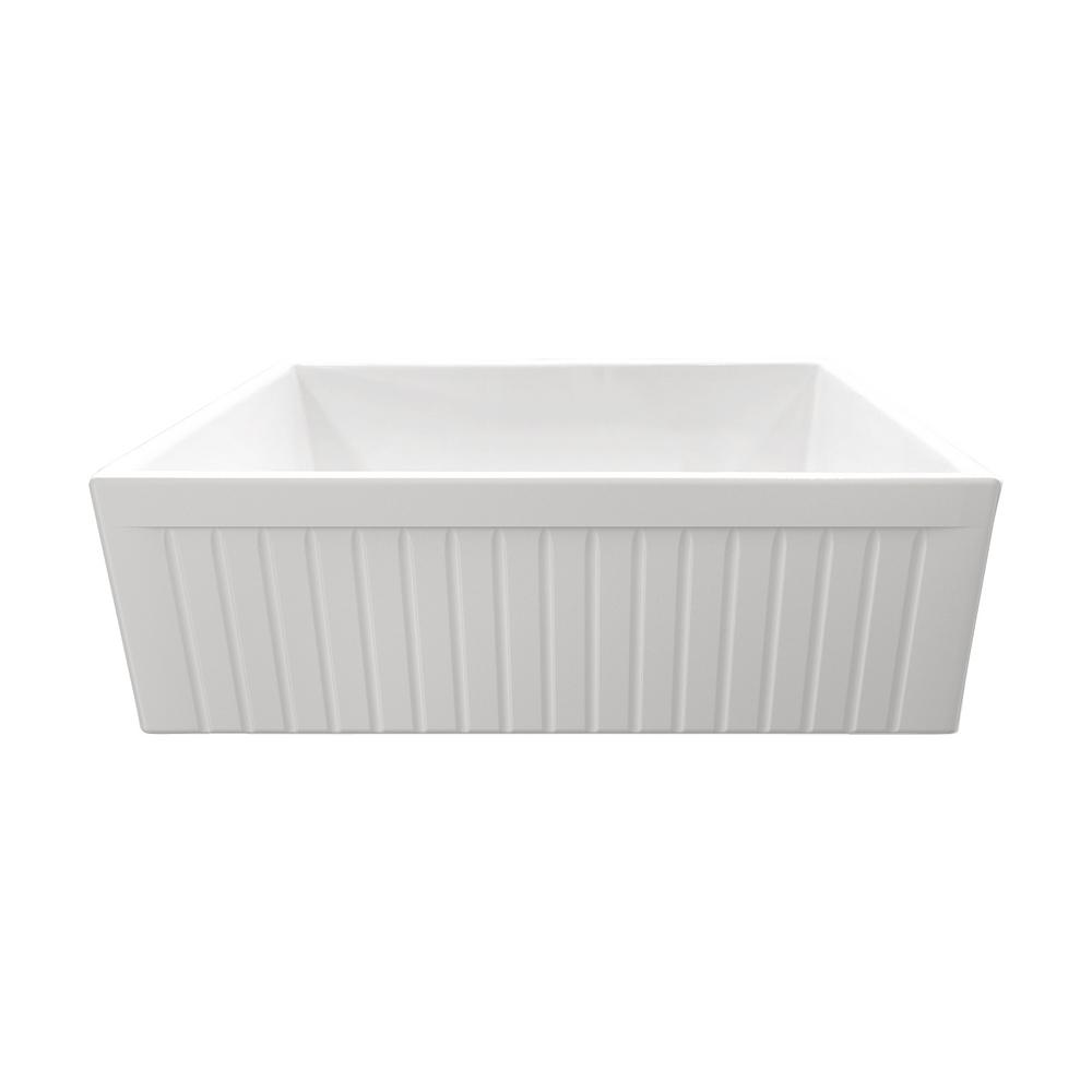 IPT Sink Company Apron Front Fireclay 30 in. Single Bowl Kitchen Sink in White