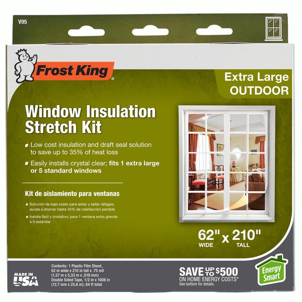 L 3M  Clear  Outdoor  Window Film Insulator Kit  62 in W x 84 in