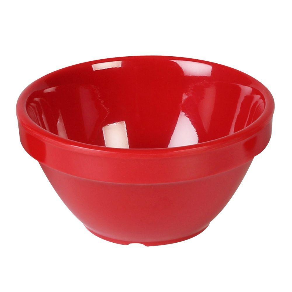 Coleur 8 oz., 4-1/4 in. Bouillon Mug in Pure Coleur Red (12-Piece)