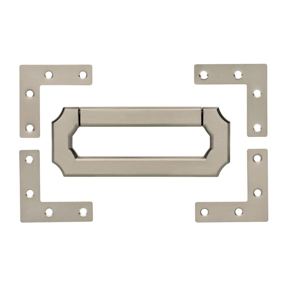 Young House Love 3 in. (76mm) Satin Nickel Vintage Style Bail Center-to-Center Pull and Campaign Hardware Set