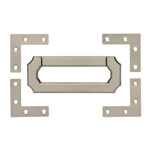 3 in. (76mm) Satin Nickel Vintage Style Bail Center-to-Center Pull and Campaign Hardware Set