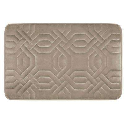 Chain Ring Linen 20 in. x 32 in. Memory Foam Bath Mat