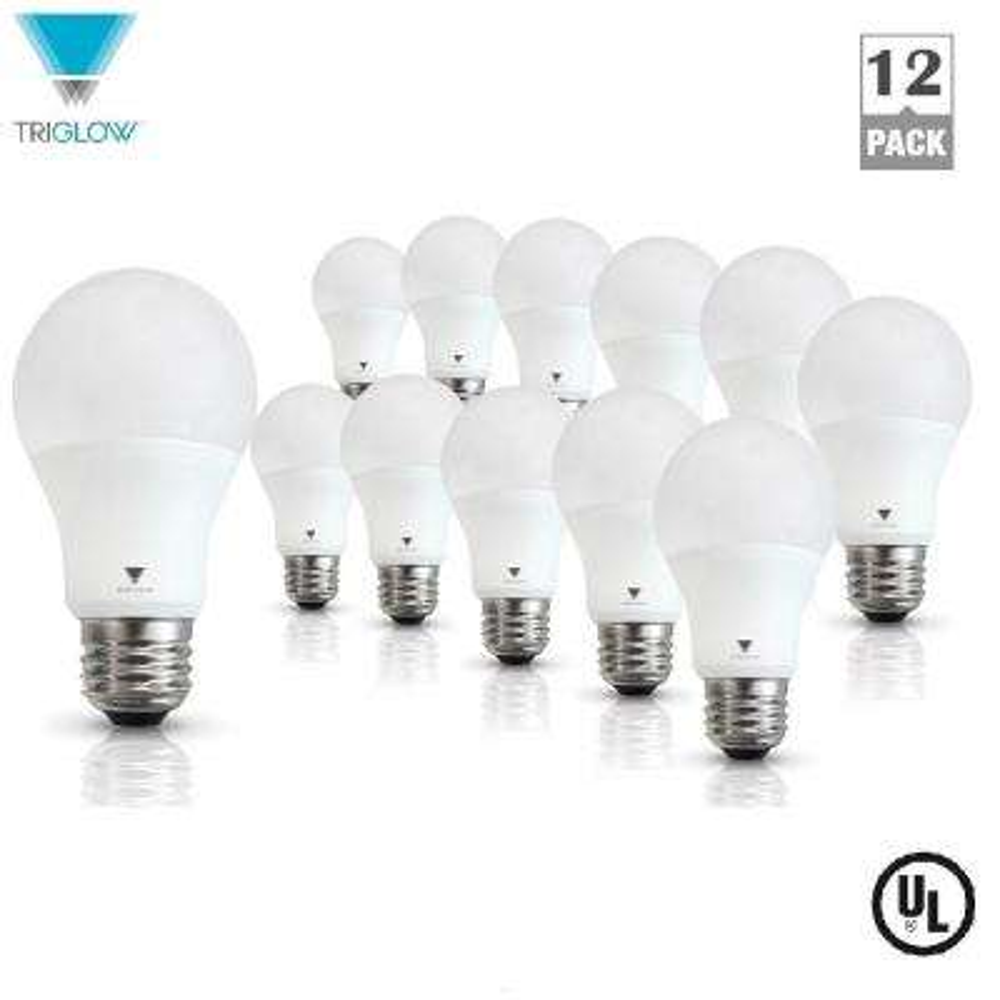 60-Watt Equivalent A19 E26 Base LED Light Bulb Warm White (12-Pack)