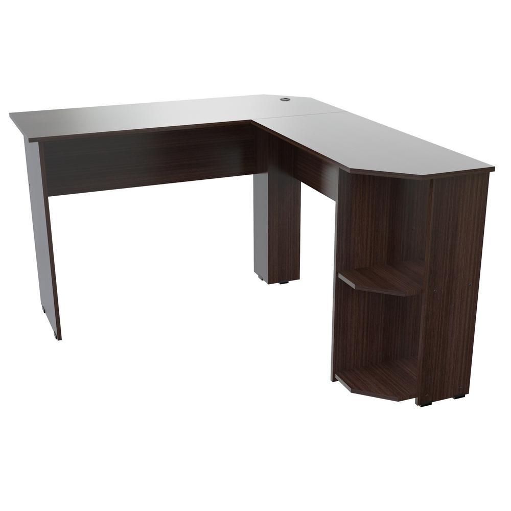Inval Espresso Wengue L-Shaped Writing Desk ET-4115