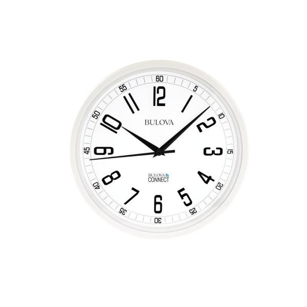 Accurate Time Anywhere 12.5 in. White Wall Clock with Bold Arabic Numerals