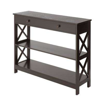 Oxford Espresso 1-Drawer Console Table