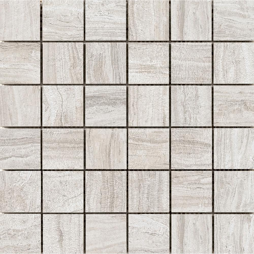Terrane Beige 11.73 in. x 11.73 in. x 10 mm Porcelain Mesh-Mounted Mosaic Tile (0.97 sq. ft.)