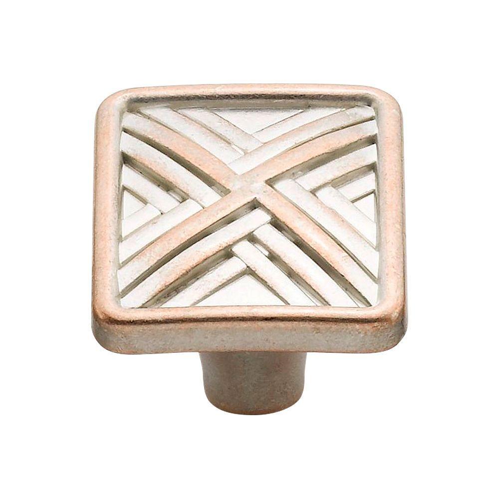 1.5 in. Lallique Copper Hard Cross Knob