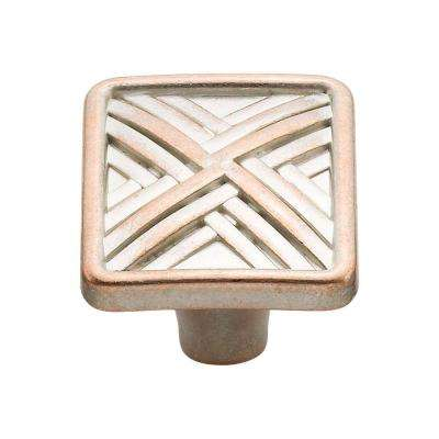 1.5 in. Lallique Copper Hard Cross Knob