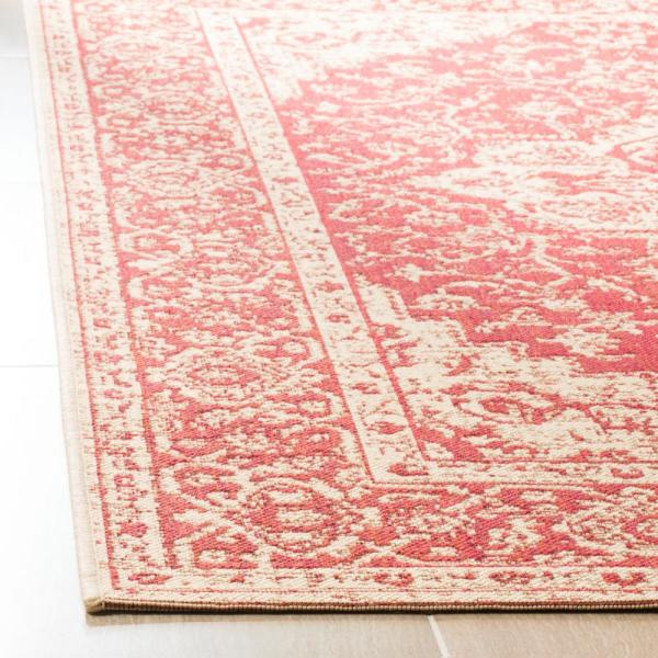 Safavieh Linden Red Cream 8 Ft X 10 Ft Area Rug Lnd137q 8 The Home Depot