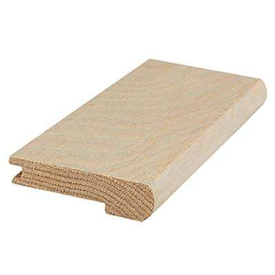 Nautical Oak 0.81 in. Thick x 3 in. Wide x 84 in. Length Flush Stairnose Hardwood Molding