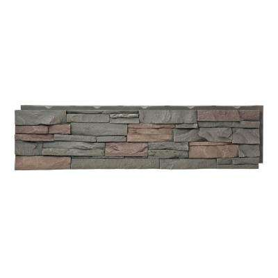 Stacked Stone Keystone 12 in  x 42 in  Faux Stone Siding Panel