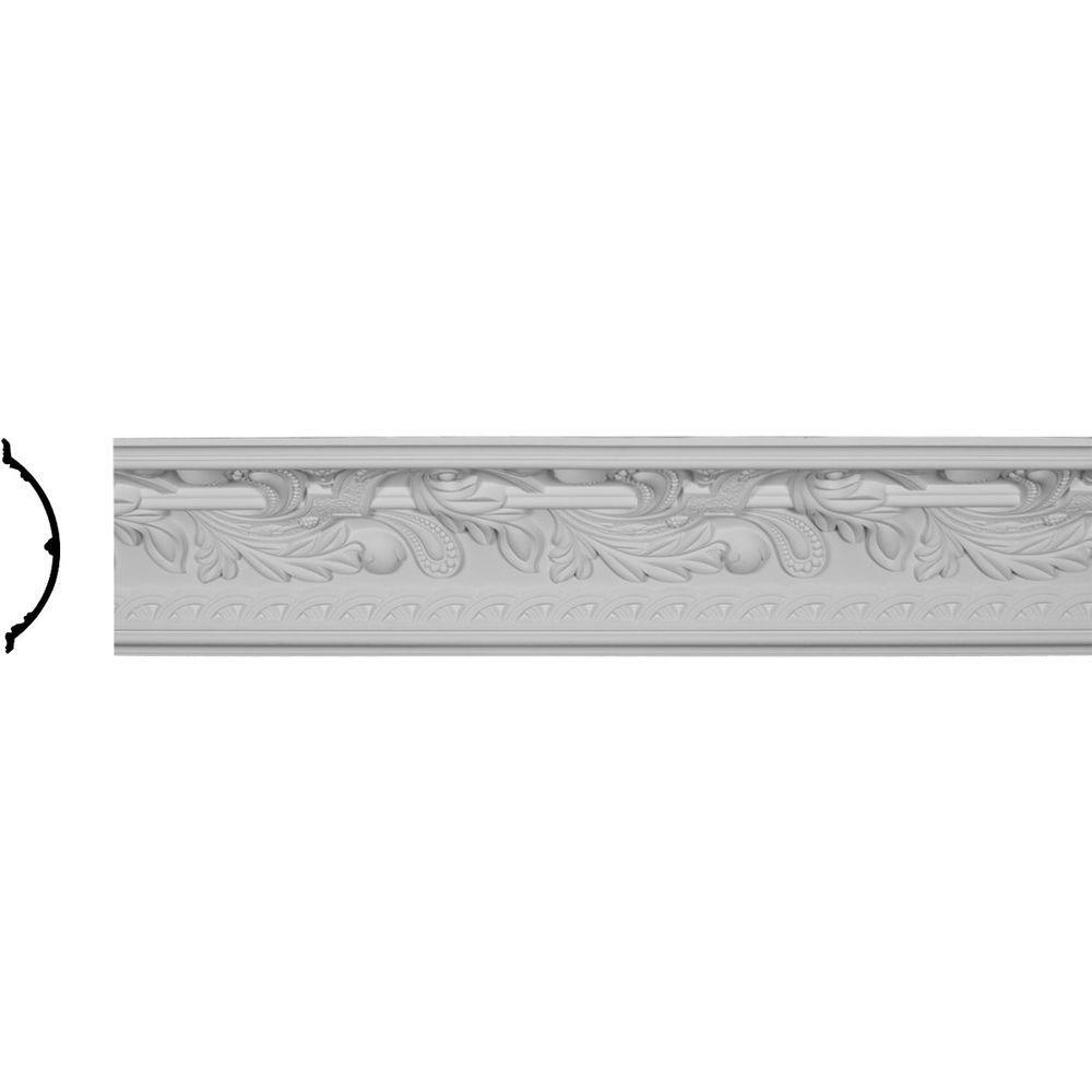 Ekena Millwork 11-1/8 in. x 11-1/8 in. x 96-1/8 in. Polyurethane Kinsley Crown Moulding