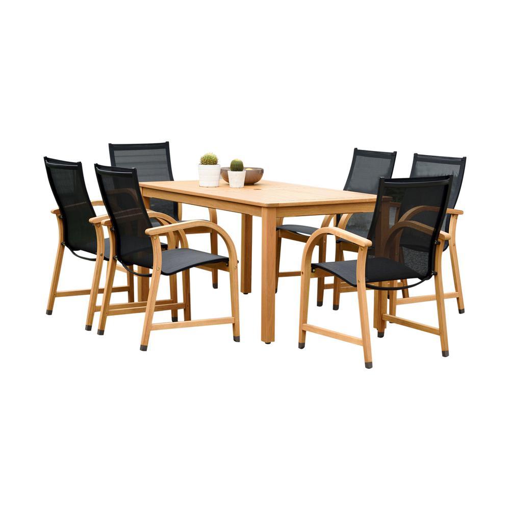 Carlisle 7-Piece Sling Rectangular Outdoor Dining Set