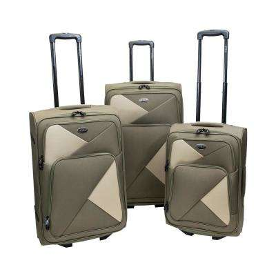 Fragmento 3-Piece Olive Luggage Set