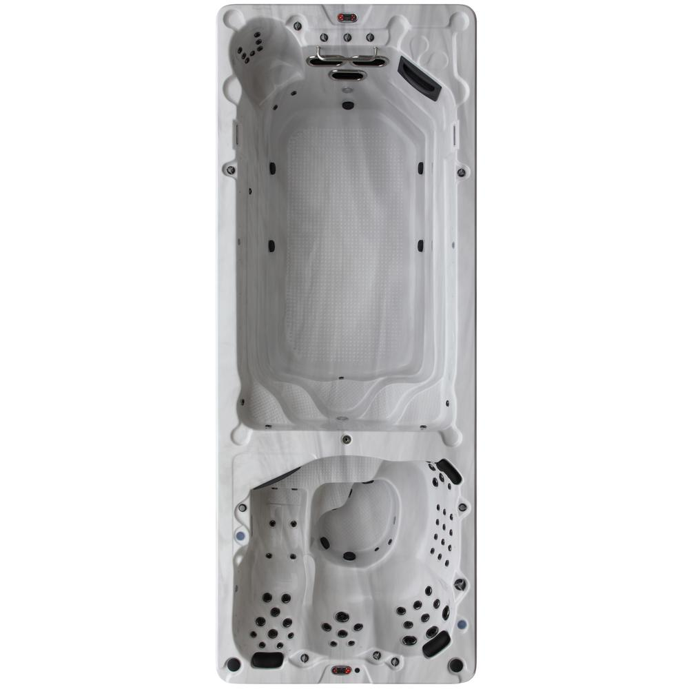 Canadian Spa Company St Lawrence 20 ft. 17-Person 73-Jet Swim Spa with LED Lighting and Bluetooth Speakers