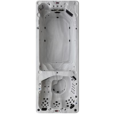 St Lawrence 20 ft. 17-Person 73-Jet Swim Spa with LED Lighting and Bluetooth Speakers
