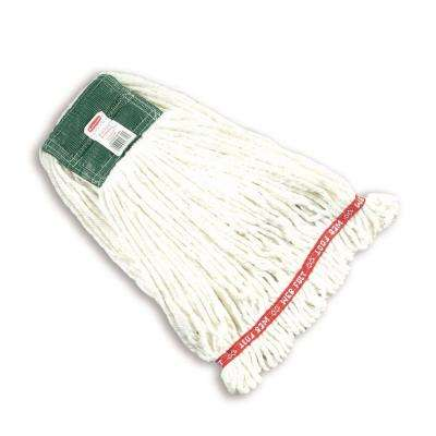 Web Foot White Blend Medium Shrinkless String Mop Head with 5 in. Head Band