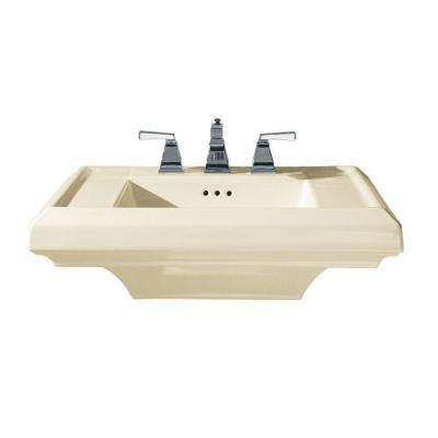 Town Square 27 in. Pedestal Sink Basin in Linen