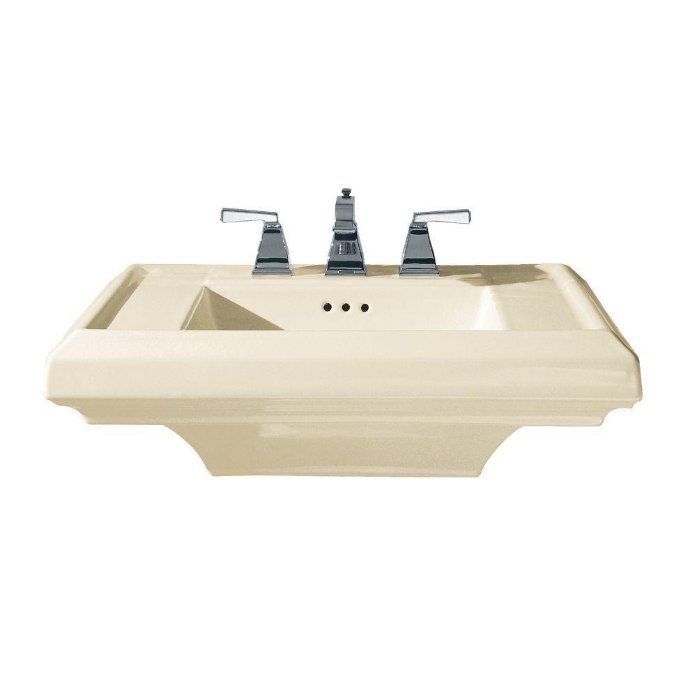 Town Square 27 in. Pedestal Sink Basin in Linen