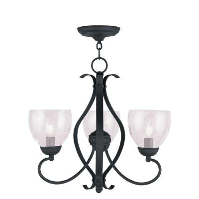 Providence 3-Light Black Incandescent Ceiling Chandelier