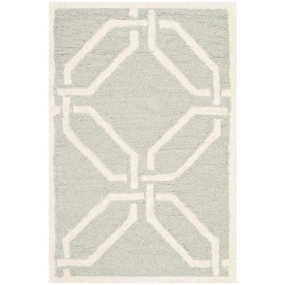 Cambridge Light Gray/Ivory 2 ft. x 3 ft. Area Rug