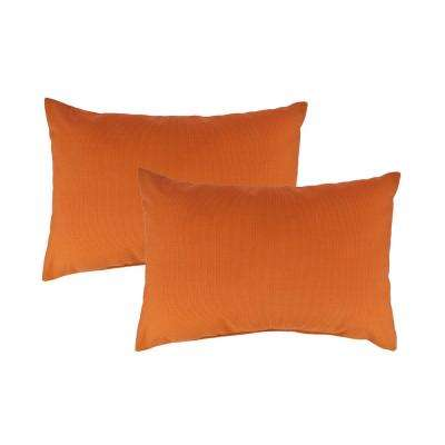 Canvas Tangerine Boudoir Outdoor Pillow (set of 2)