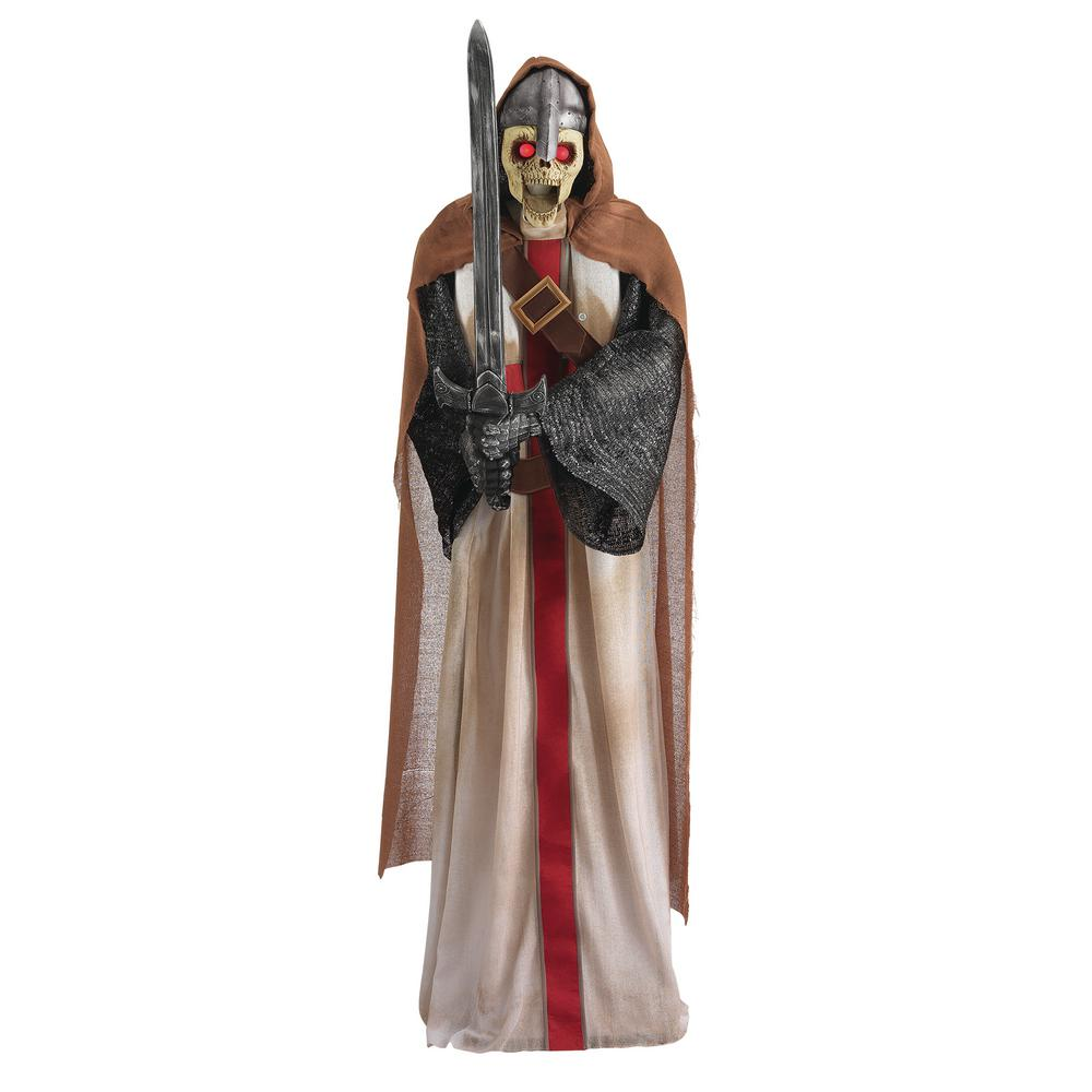 Home Accents Holiday 72 in. Animated Standing Knight