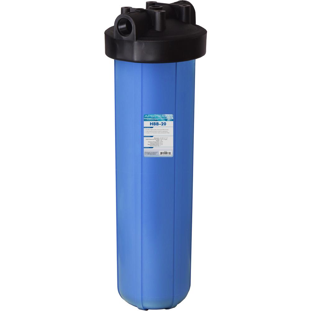 20 in. Big Blue Whole House Water Filter Housing 1 in.