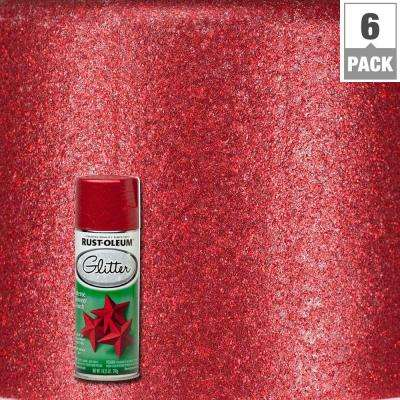 10.25 oz. Red Glitter Spray Paint (6-Pack)