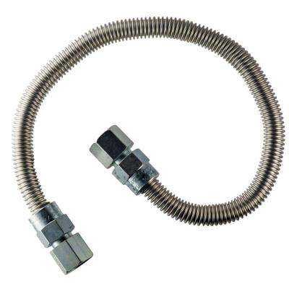 1/2 in.  FIP x 1/2 in.  FIP x 24 in.  Heater Connector 3/8 in O.D.