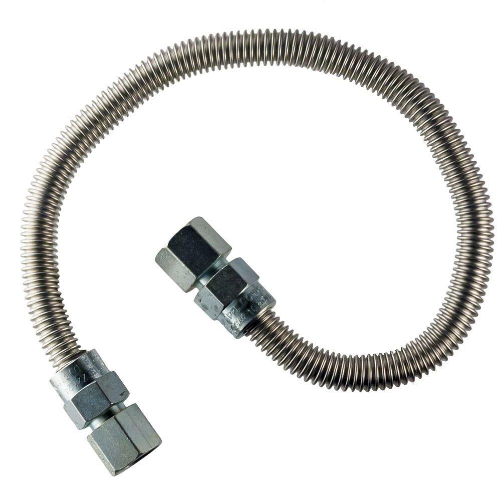 HOME-FLEX 1/2 in. FIP x 1/2 in. FIP x 48 in. Heater Connector 3/8 in O.D.