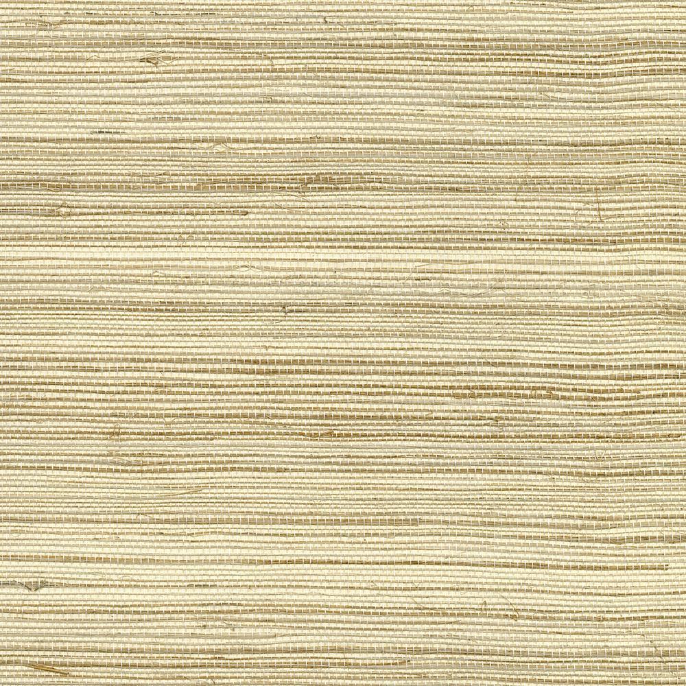72 sq. ft. Changzhou Beige Grass Cloth Wallpaper