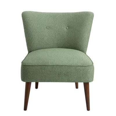 Teal Chadwick Armless Accent Chair