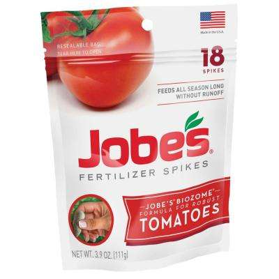 3.9 oz. Tomato Plant Food Fertilizer Spikes with Biozome, OMRI Listed (18-Pack)