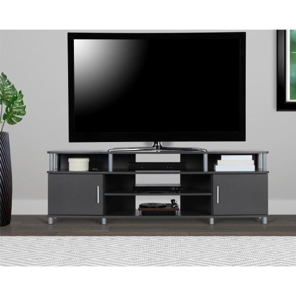 Ameriwood Home 70 in. Windsor Gray TV Stand HD44341