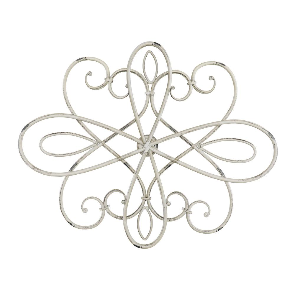 Lavish Home 15 in. Oval Swirl Iron Metal Wall Medallion, Beige was $25.71 now $14.89 (42.0% off)