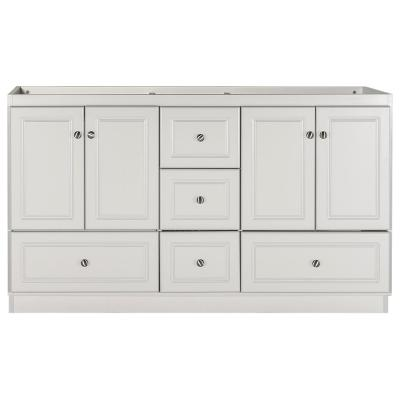 Ultraline 60 in. W x 21 in. D x 34.5 in. H Bath Vanity Cabinet Only with Double Basins in Dewy Morning