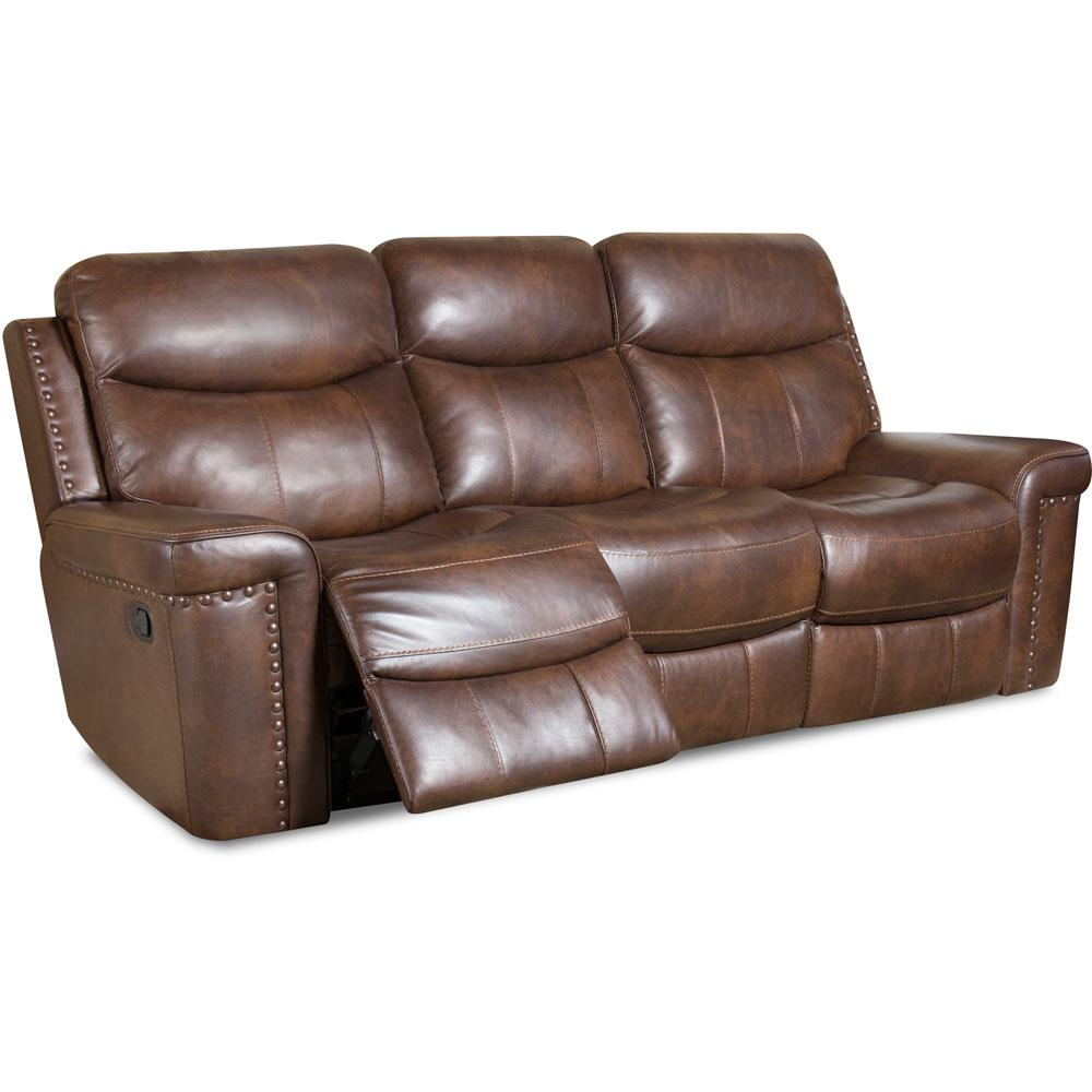 Cambridge DriftWood Aspen Leather Double Reclining Sofa