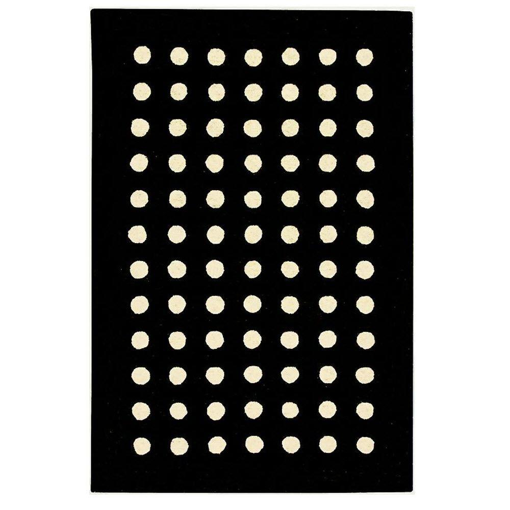 Home Decorators Collection Dottie Black 7 ft. 6 in. x 9 ft. 6 in. Area Rug
