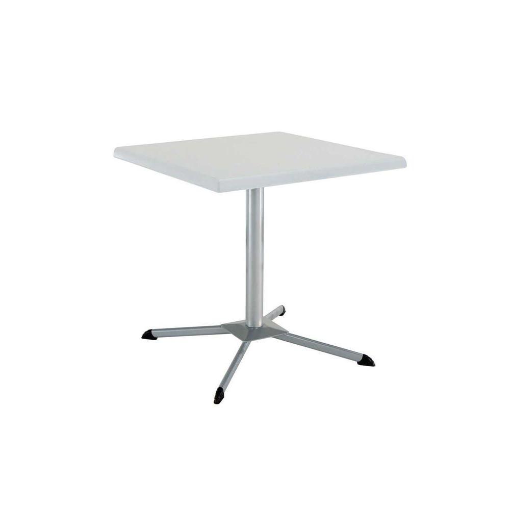 Lifetime 29 in. White Granite Square Bistro Table-DISCONTINUED