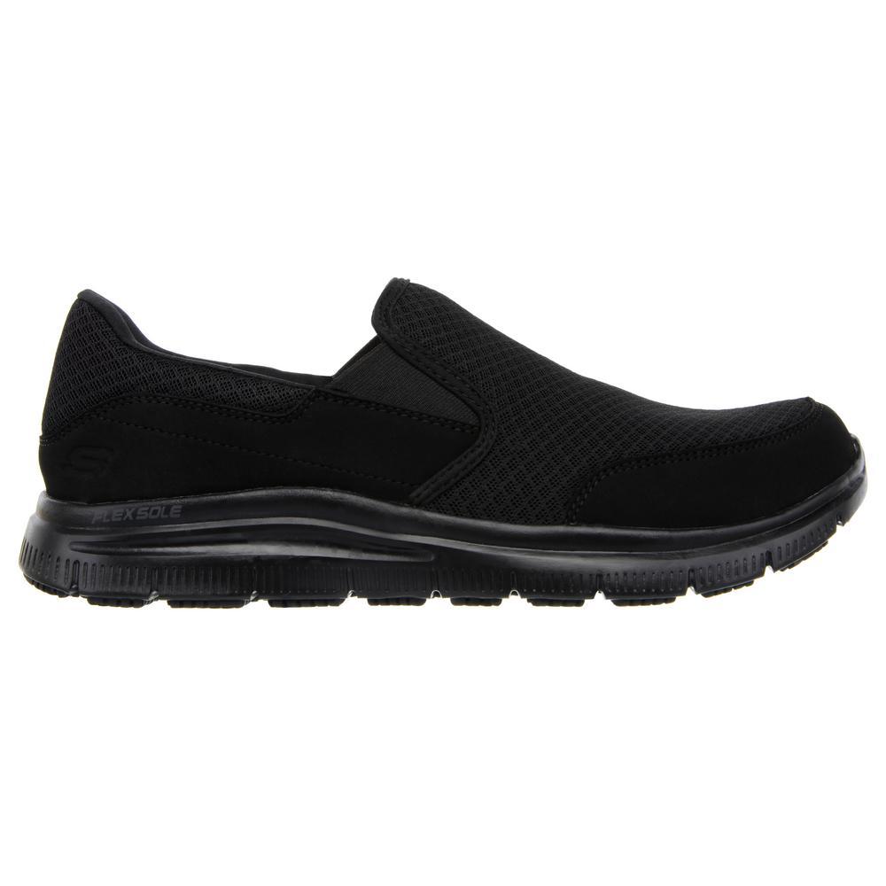 Skechers Men's Flex Advantage - McAllen Slip Resistant Slip-On Shoes - Soft  Toe - Black Size 9.5(W)-77048W-9.5 - The Home Depot