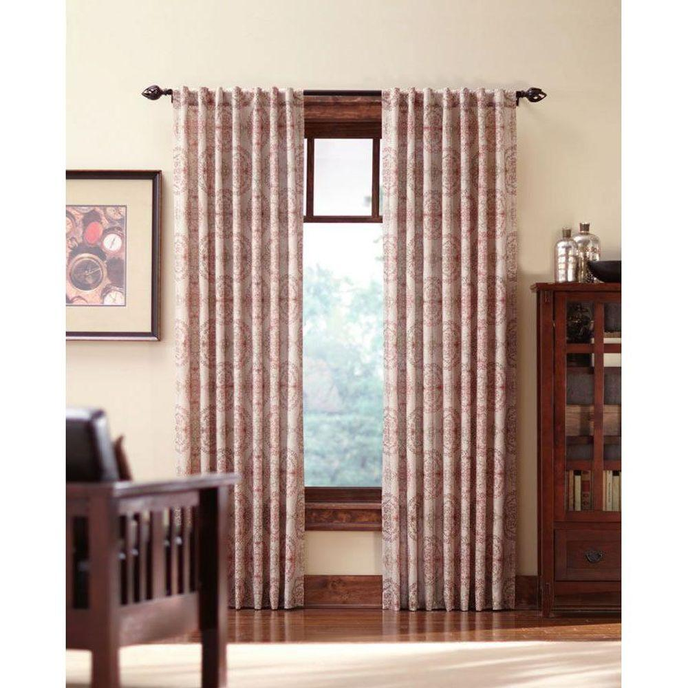 Home decorators collection semi opaque spice filigree back tab curtain price varies by size Home decorators collection valance