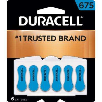 Size 675 Zinc Hearing Aid Battery (6-Pack)