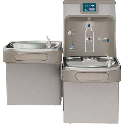 Filtered 8 GPH EZH2O ADA Light Gray Bi-Level Drinking Fountain with Bottle Filling Station