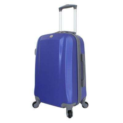 19 in. Upright Hardside Spinner Suitcase in Blue
