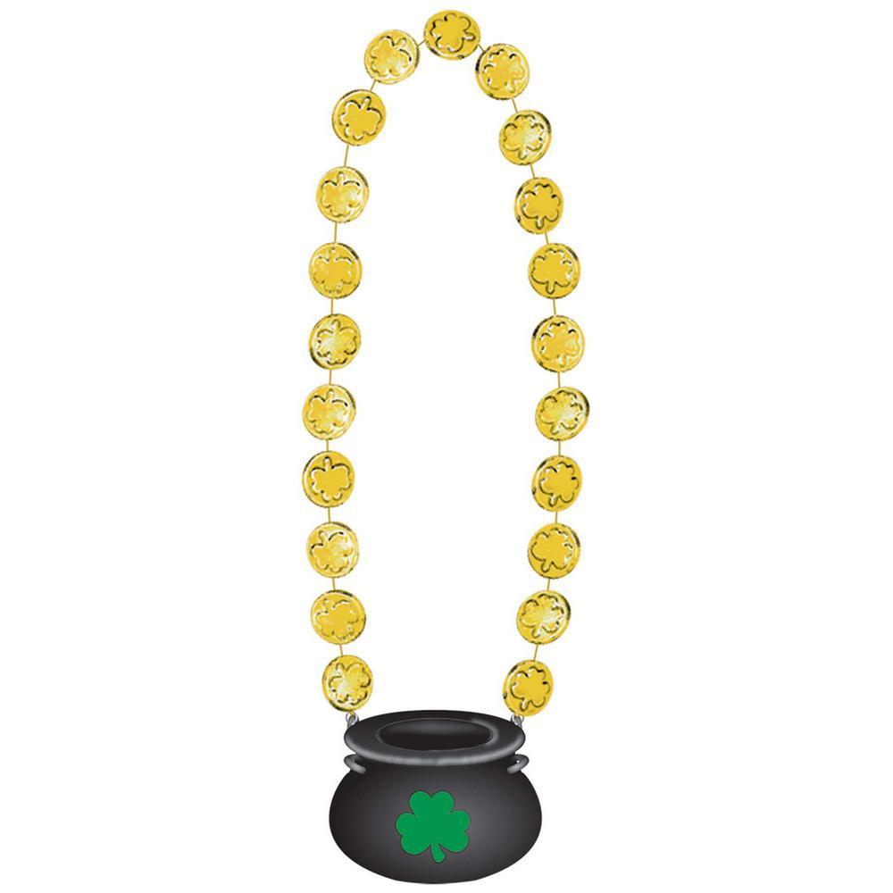 AMSCAN Plastic Pot of Gold Pendant St. Patrick's Day Bead...